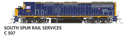 AUSPOWER C Class Locomotive: C507 Southern Spur Rail Services (cat No APLCAP011)