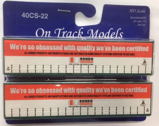 22. 40' Curtain Sided Containers #40CS-22  Rondo — NW4973 (V4) & NNW4977 (V4) On Track Models:  (2 PACK)