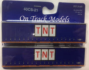 21. 40' Curtain Sided Containers #40CS-21 TNT (Blue Curtain) – 3SW803 (V2) & 3SW807 (V2) On Track Models:  (2 PACK)