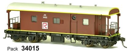 JHG SDS Models: Guards Van: JHG Red R: Pack 34015