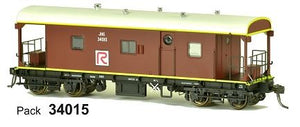 RRP $125 Save $26!!! : JHG SDS Models: Guards Van: JHG Red R: Pack 34015