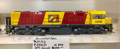 QR 2201D HO (16.5 mm) 2170 CLASS Q21-02 QRN BRONCO LIVERY/ AURIZON LOGO #2201D MAXI LFT 2012 to 2016 With ESU DCC & SOUND.
