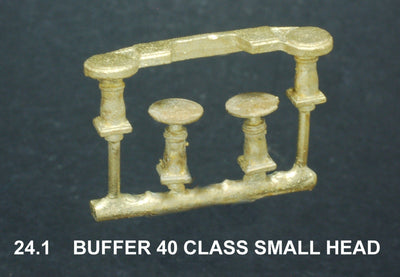 Buffers for NSWGR 40 Class front & rear Small Head, 1 set. Ozzy Brass  #24.1