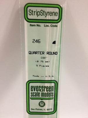 EVERGREEN-246 QUARTER ROUND 0.75mm (.030'