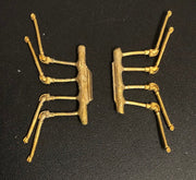 O Scale AIR HOSE 25 - O Scale LOCOMOTIVE Air Hoses (8) - Ozzy Brass Detailing Parts:#25