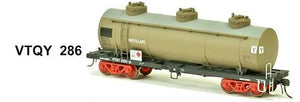 SDS Models: Vic Railways: 10000 Gallon Rail Tank Car: Single Pack: VTQY 286