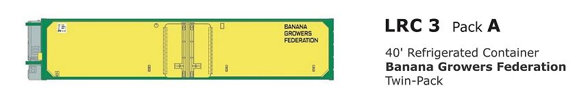 SDS: Containers; LRC 3 40' Refrigerated Container: Banana Growers Federation twin pack. l(only two pk's left)