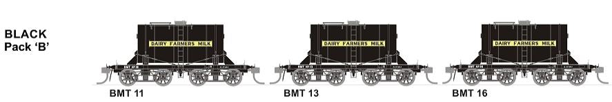 SDS Models: NSWGR: BMT Milk Tank Car: Black Pack B