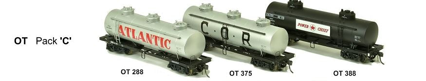 RRP $198 Save$59: OT SDS Models: Vic Railways: 10000 Gallon Rail Tank Car: OT Pack C with OT375, OT288, OT388