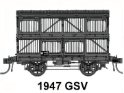 03 Casula Hobbies: PREORDER Pack 3 : GSV Wheel Sheep Van Pack of four : No's 26567, 26575, 26580, 26587