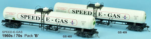 GAS SDS Models: NSWR: LPG Rail Tank Car: Twin packs: Speed-E-Gas: 1960-70's Pack B