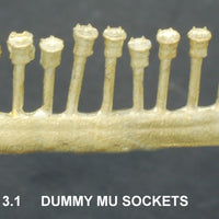 MU 3.1 - MU Diesel Locomotive Dummy MU Sockets - Ozzy Brass Parts #3.1