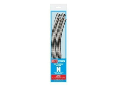Peco N: ST-3015 - PACK OF 4 NO 2 RADIUS DOUBLE CURVES