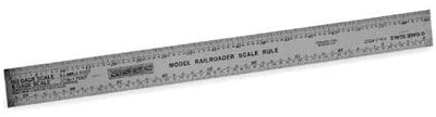 SCALE MODEL RAILROAD RULER #H711 O, HO, N, S,INCHES & MM
