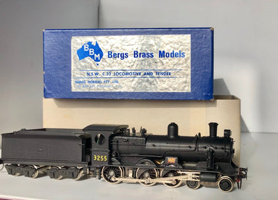 D115 BRASS MODELS: BERGS BRASS MODELS - 1st Run N.S.W.R. C32 CLASS STEAM 3255 BLACK MINT CONDITION