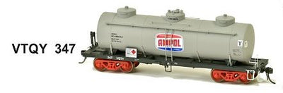 SDS Models: Vic Railways: 10000 Gallon Rail Tank Car: Single Pack: Ampol VTQY 347