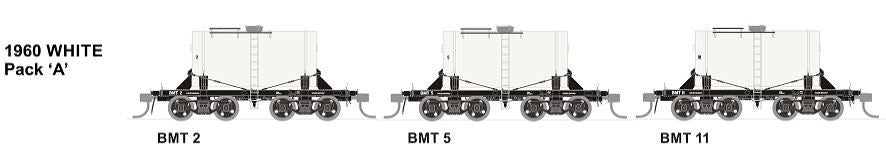 BMT SDS Models: NSWGR: BMT Milk Tank Car: 1960 White Pack B TANKS 3, 6 AND 8.