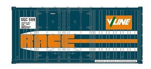 SDS Models: 20' Race Container: Pack A :VGC Vline Rail Blue