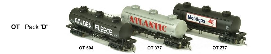 SDS Models: Vic Railways: 10000 Gallon Rail Tank Car: OT Pack D