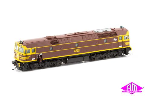 422-20S-AUSCISION 42211 CLASS INDIAN RED WITH WHITE L7 with DCC SOUND