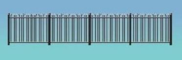 Ratio: 434 GWR Spear Fencing (Black)