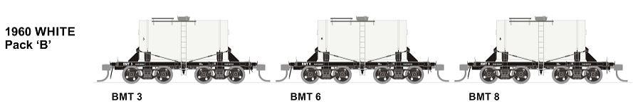 BMT SDS Models: NSWGR: BMT Milk Tank Car: 1950's White with DAIRY FARMERS MILK  on side of the tank Pack B