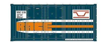 1 AA SDS Models: Pack A : VGC VR Rail Blue 20' Race Container: (3 in a pack) ON SALE 8.