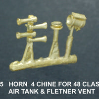 Air Horns Four Chime 48 Class, with  Air Tank & Flettner Vent Ozzy Brass #55