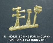 A. Ozzy Brass : Horns #55 : Four Chime Air Horns 48 Class, with  Air Tank & Flettner Vent
