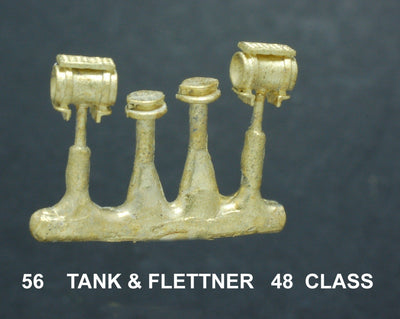 Tank 56 - for 48 Class Tank & Flettner Vent - Ozzy Brass Parts #56