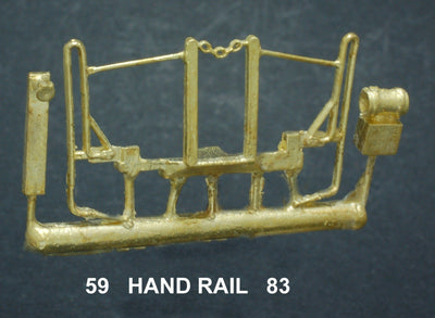 Ozzy Brass:  59 Loco: Powerline S.A.R. 830 class Locomotive Front Hand Rail with MU stand and tank  #59