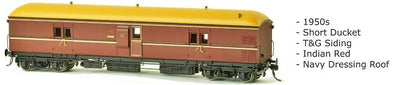 EHO SDS Models: EHO 626 Express Brake Van 1950s, Indian Red, Navy Dressing Roof.DISCOUNT PRICE $90