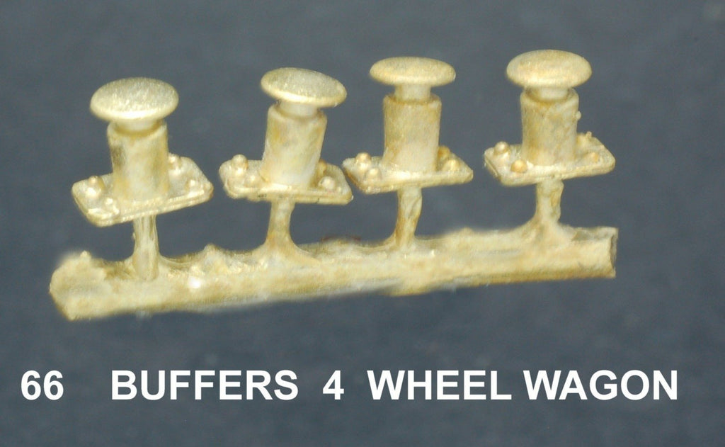 Buffers  4 wheel wagon Ozzy Brass  #66