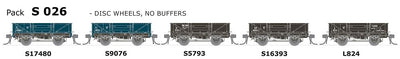 AUSTRAINS NEO - S Wagon: -Pk S 026 NSWGR S-Truck: 5 in Pack with Disc Wheels, No Buffers