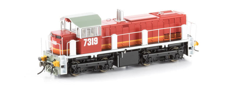 73-8 DC AUSCISION 7319 CLASS CANDY LIVERY with BUFFERS HO DC, NSWR LOCOMOTIVE.