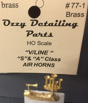 Air Horns #77.1 Ozzy Brass : Horns #77.1 :  V/Line S & A Class Locomotive Air Horns.