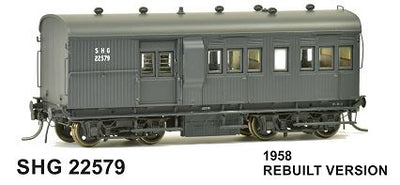 SDS Models: 30' Goods Brake Van: SHG 22579 late version