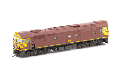 80-6 -AUSCISION 80 CLASS  INDIAN RED WITH WHITE L7 8029 Locomotive non sound.