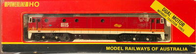 D49 - 2ND HAND - POWERLINE SRA 81 CLASS CANDY 8115 LOCOMOTIVE (DUAL MOTOR WITHOUT TRACTION TYRES)) HO DC