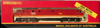 D48 - 2ND HAND - POWERLINE SRA CANDY 8175 CLASS LOCOMOTIVE (DUAL MOTOR WITHOUT TRACTION TYRES)) HO DC
