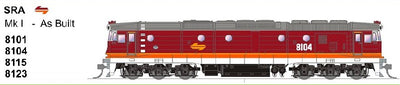 SDS MODELS 8101 Class Mk1-AS BUILT SRA CANDY Non Sound Version: In Production - Arriving end of 2020