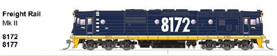 SDS MODELS 8172 Class Mk11 Freight Rail Blue Non Sound Version: In Production - Arriving end of 2019