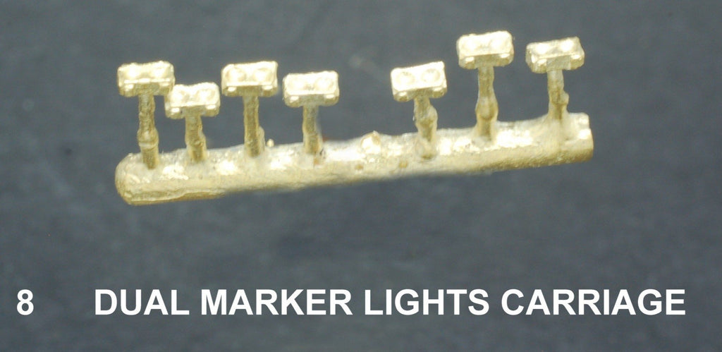 Marker light #8 Ozzy Brass : Marker Lights Dual for Carriage #8