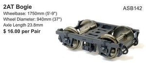 142: SDS Models: Bogies: 2AT #142 HO-Scale Bogie : ASB142 sold out