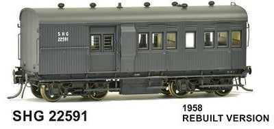 RRP $110 Save $20: SHG SDS Models: SHG 22591 30' Goods Brake Van LATE VERSION