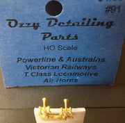 A. Ozzy Brass : Horns #91 : Vic Railways T Class Locomotive Air Horns suits Powerline & Austrains models