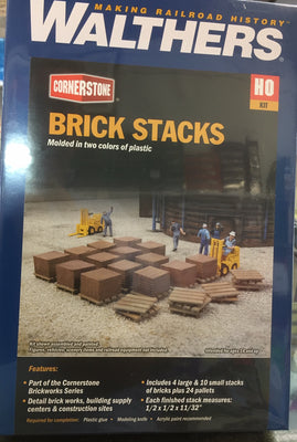 Walthers: Brick Stacks on pellets 933-4103 Cornerstone Kit.