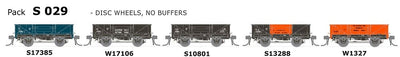 AUSTRAINS NEO - S Wagon: -Pk S 029 NSWGR S-Truck: 5 in Pack with Disc Wheels, No Buffers