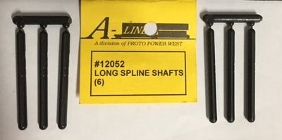 A-Line: LONG SPLINE SHAFTS #12052 (6) DRIVE COUPLINGS Universal.