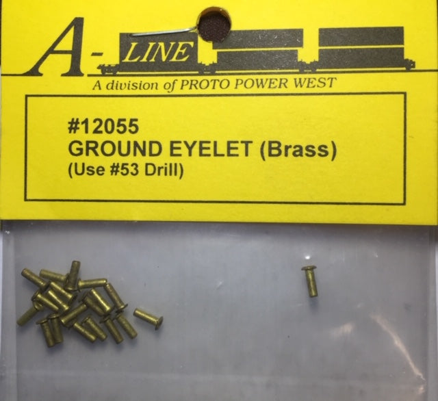 A-Line HO: GROUND EYELET (BRASS) #12055  use #53 Drill